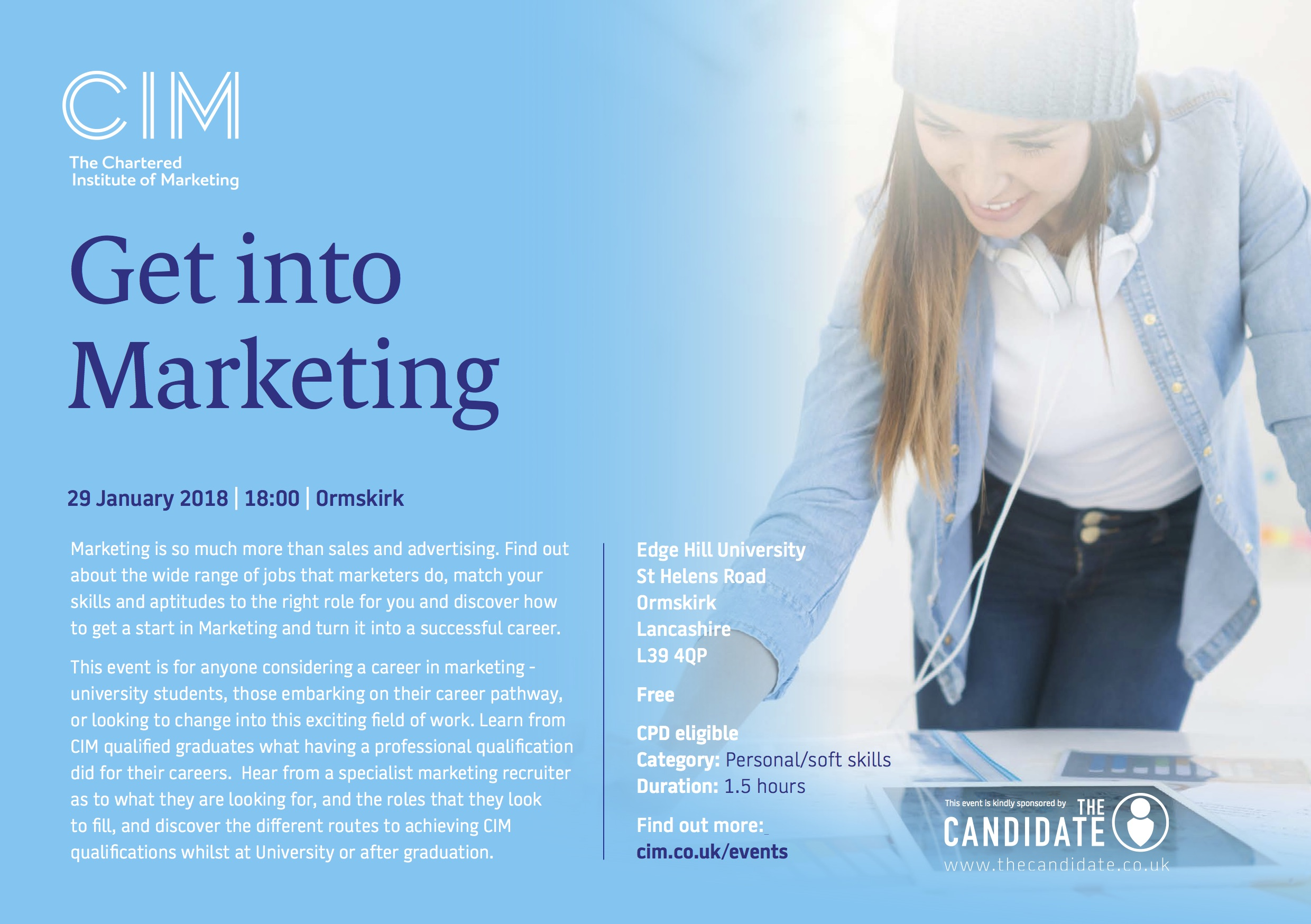 Get Into Marketing Flyer Lancashire