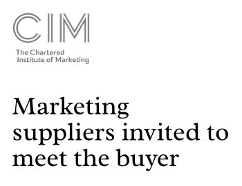 Marketing suppliers invited to meet the buyer