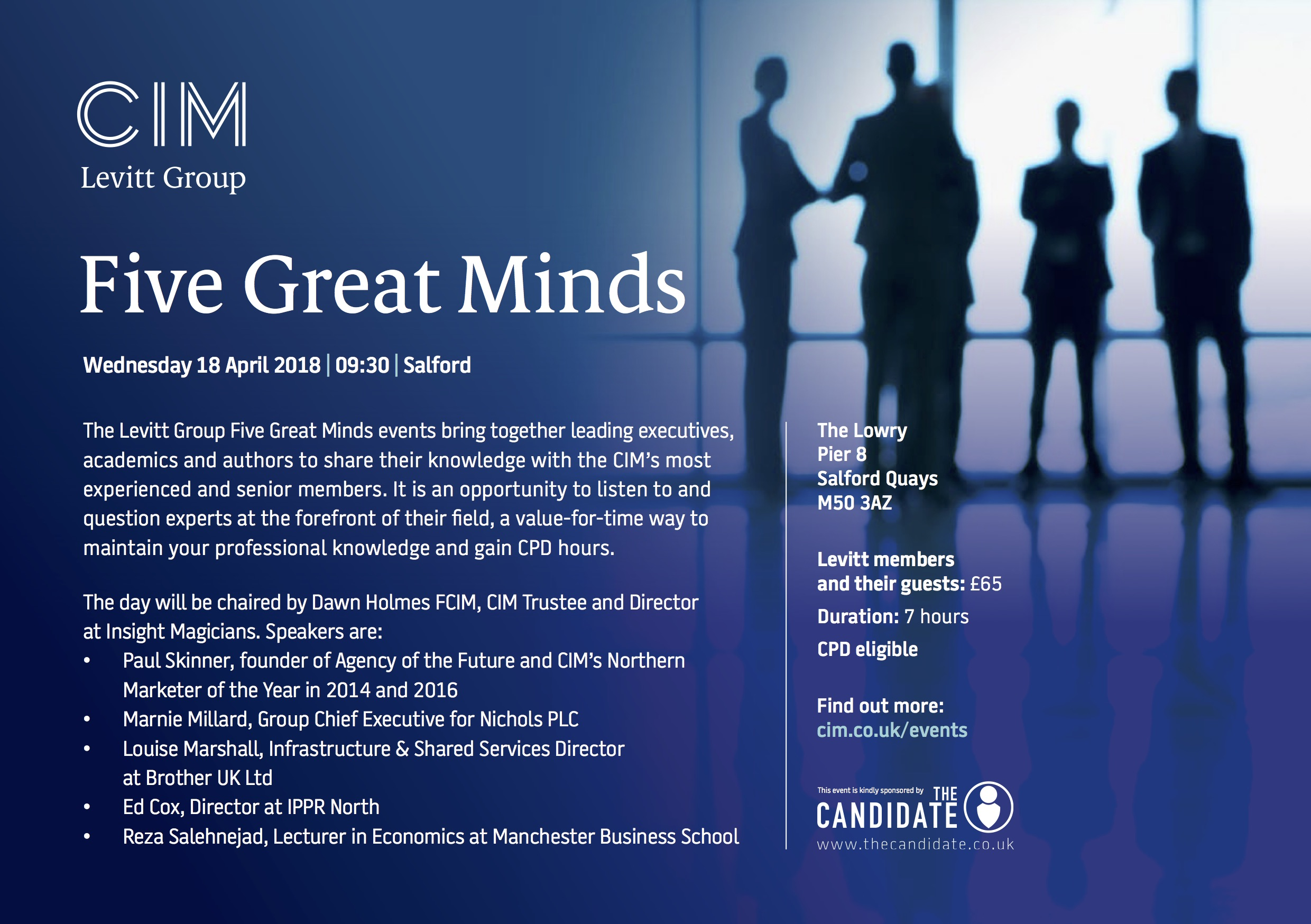 Levitt Group - Great Minds April 2018 - Manchester