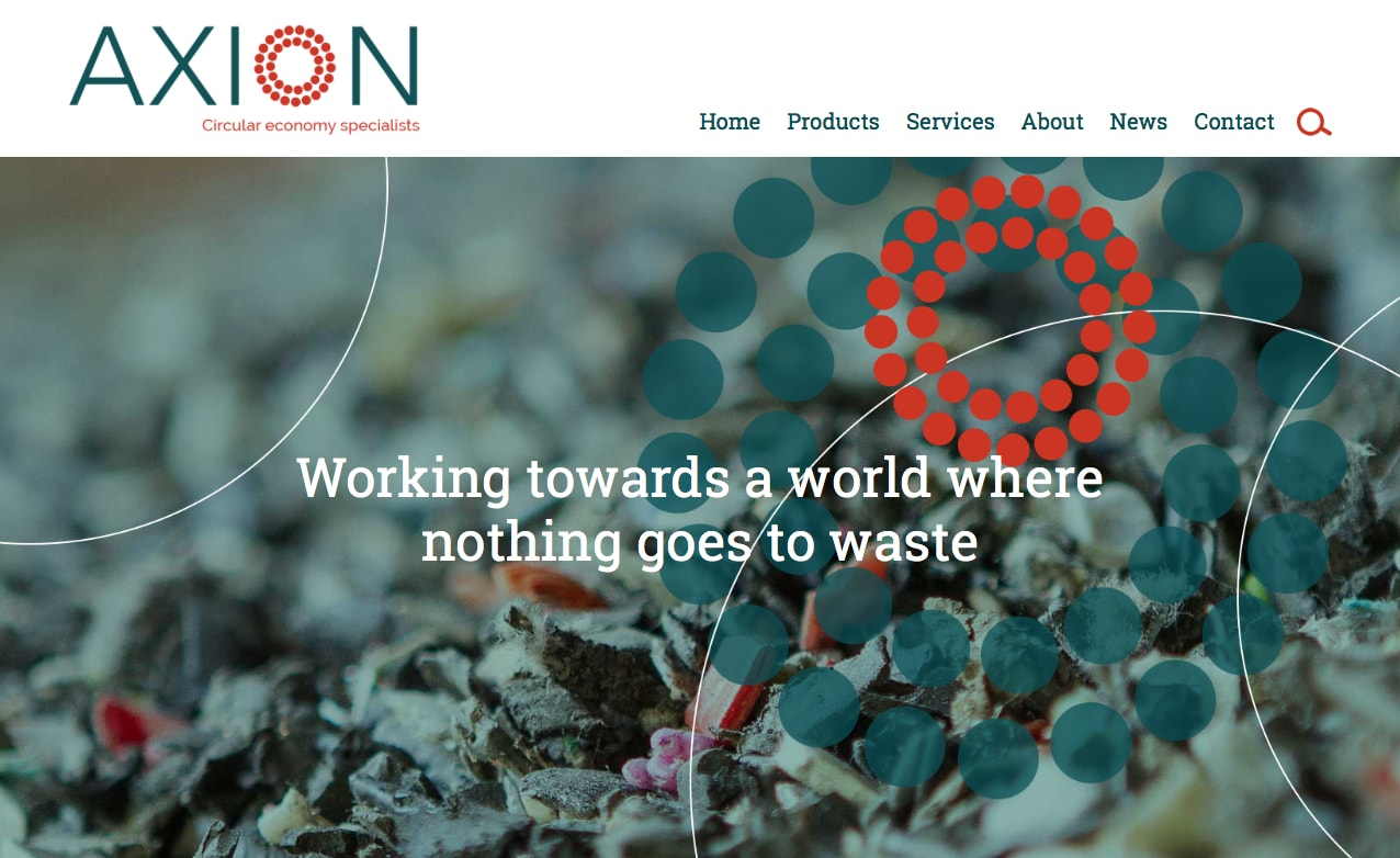 Axion website screenshot